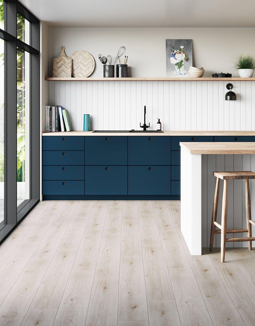 Farmhouse White Laminate Flooring, Laminate Wood Flooring Kitchen