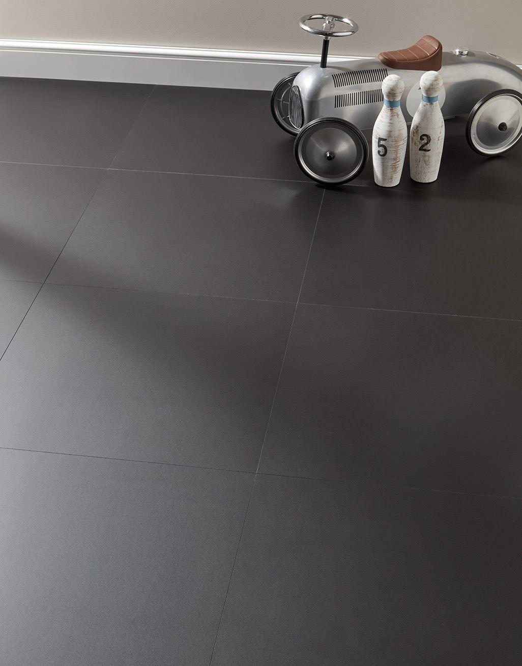 Chequer Tile Black Matt Laminate, Matte Black Laminate Flooring