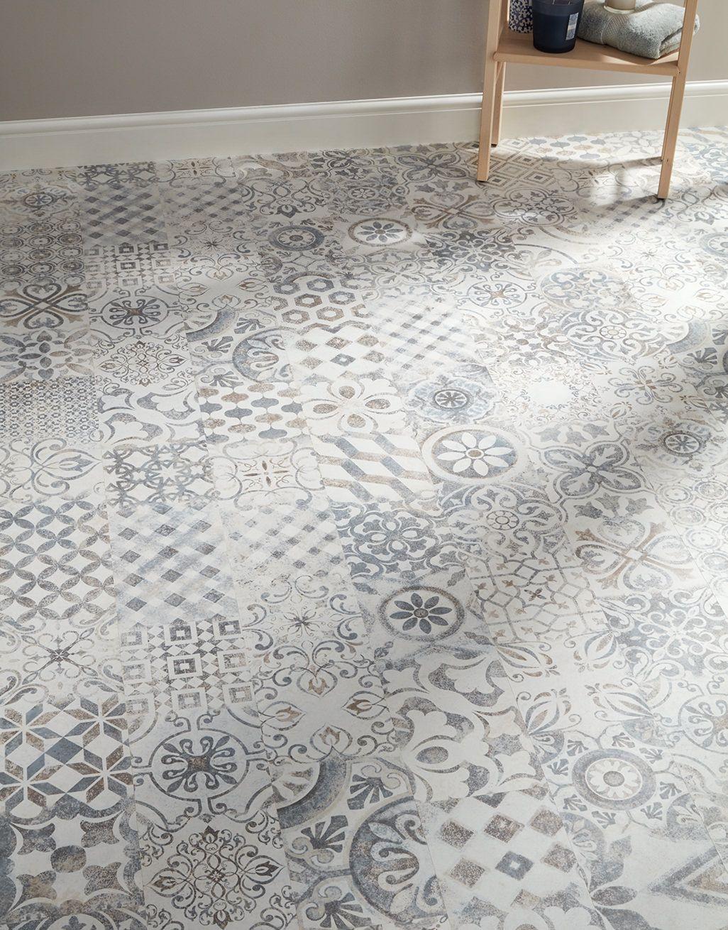 Retro Blue Grey Laminate Flooring, Laminate Flooring To Tile