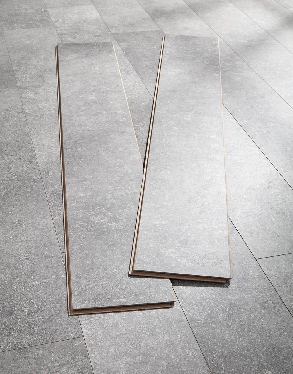 Valencia Tile Weathered Grey Laminate, Cement Effect Laminate Flooring