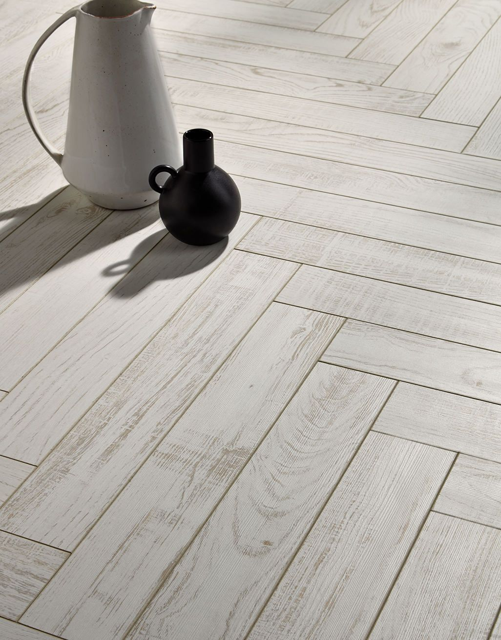 White Chestnut Laminate Flooring, White Herringbone Laminate Flooring