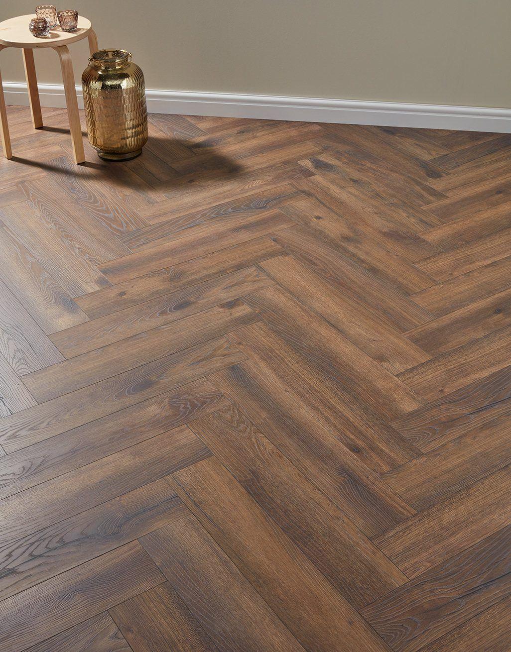 Espresso Oak Laminate Flooring, Herringbone Laminate Flooring