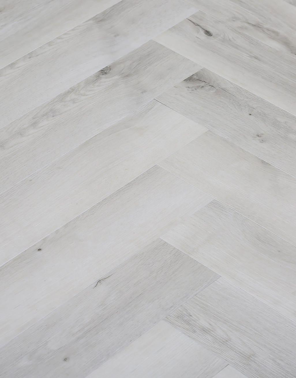 White Rustic Oak Lvt Flooring, White Herringbone Laminate Flooring