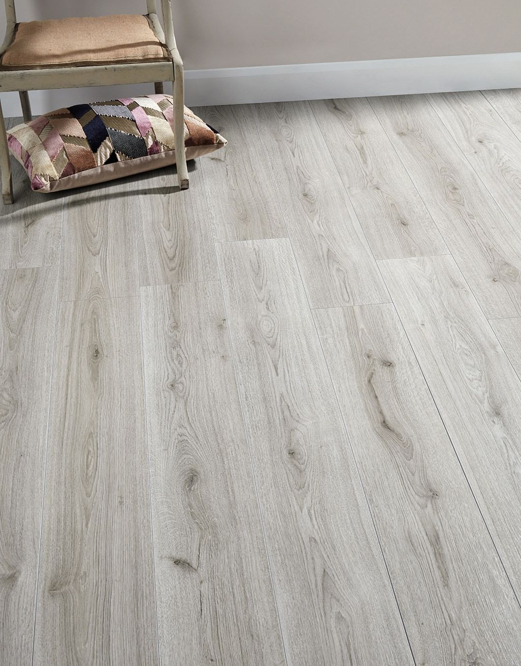 Loft Light Grey Laminate Flooring, Light Grey Oak Effect Laminate Flooring