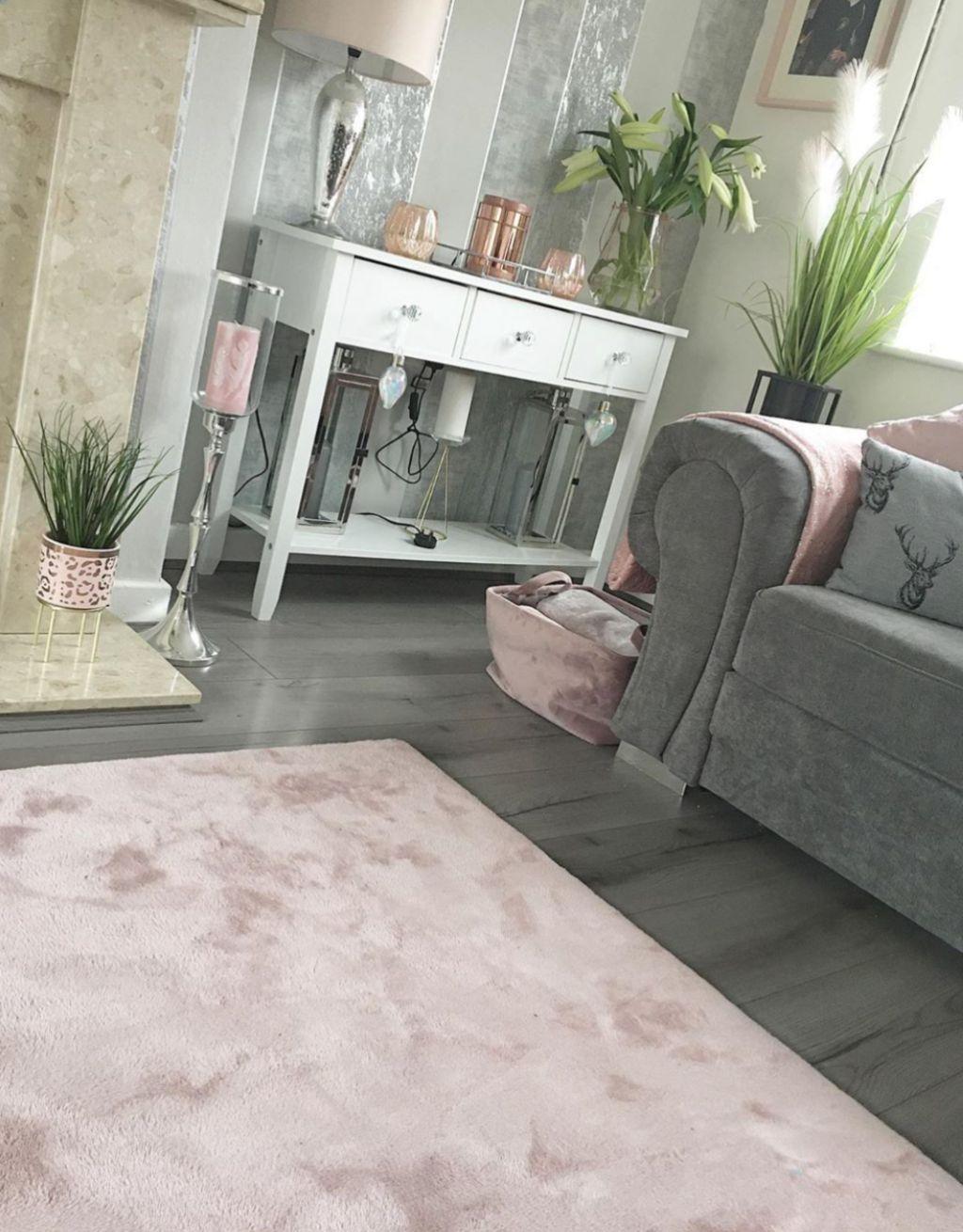 Loft Dark Grey Laminate Flooring, Grey Floor Living Room
