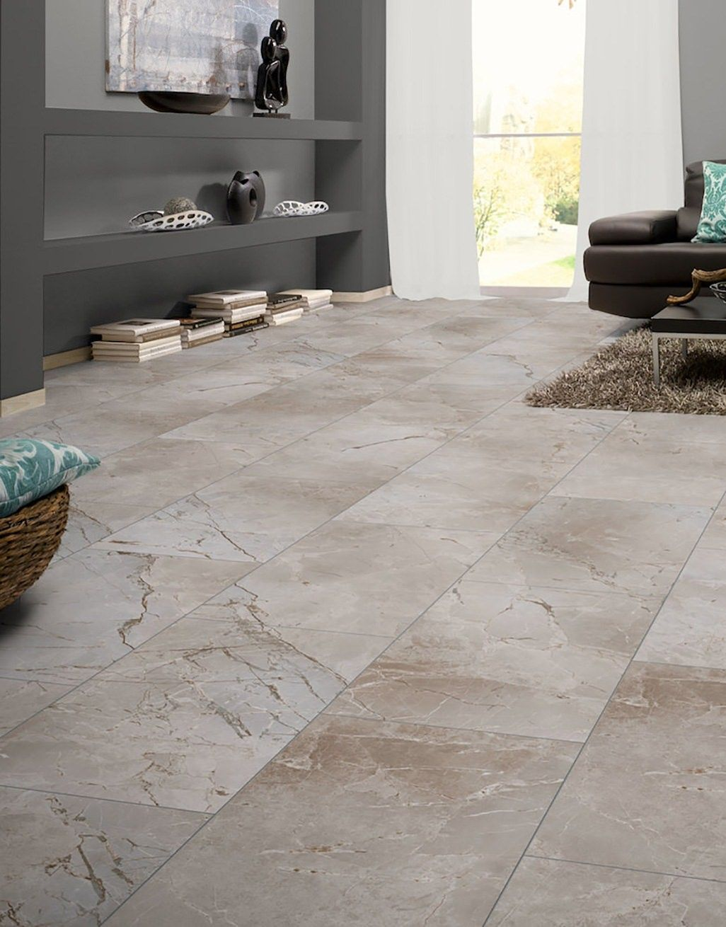 Verona Tile Light Grey Marble Laminate Flooring Direct Wood Flooring