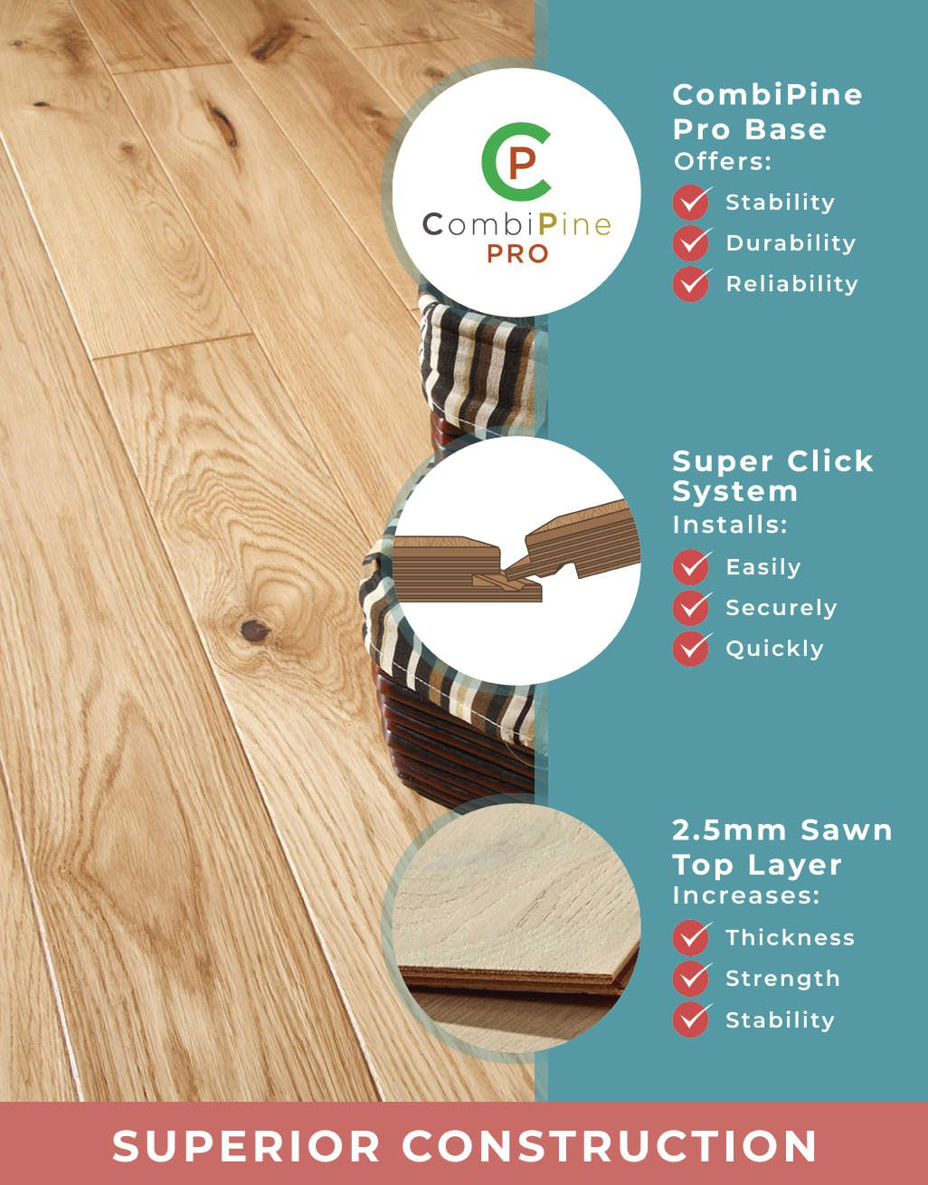 Direct Wood Flooring, 14mm Thick Laminate Flooring