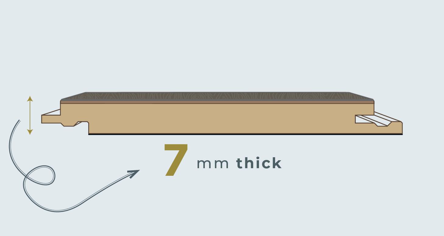 Loft - Rustic Oak Laminate Flooring - Descriptive 1
