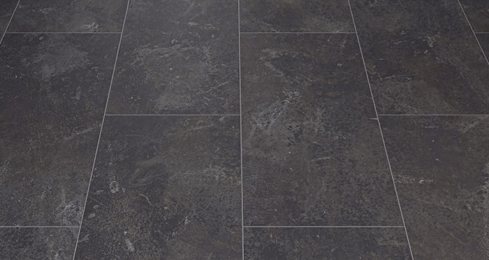 Verona Tile - Black Slate Laminate Flooring - Descriptive 2
