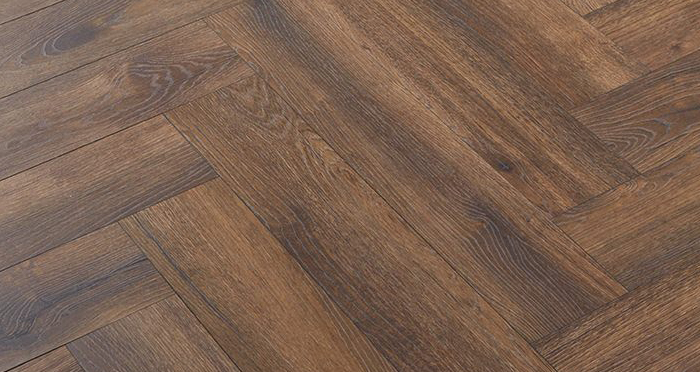 Herringbone - Espresso Oak Laminate Flooring - Descriptive 2