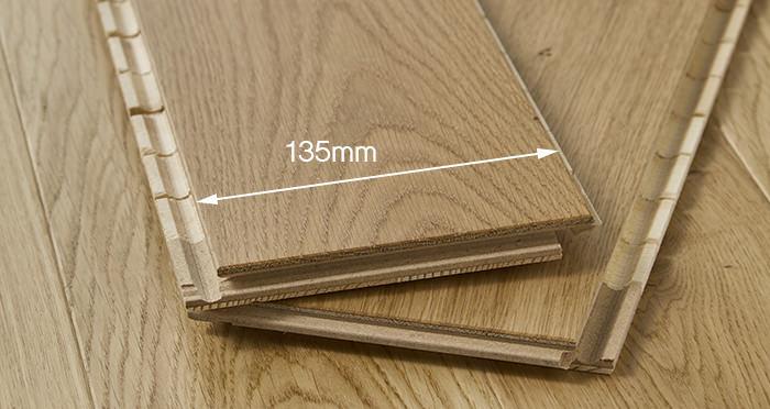 Carpenters Choice Oak 135mm Wide Brushed & Lacquered - Descriptive 2