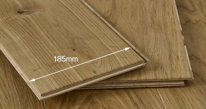 Carpenters Choice Oak 185mm Wide Brushed & Lacquered - Descriptive 2