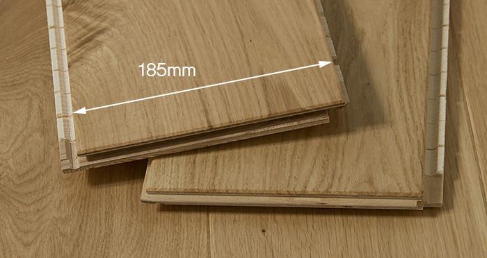 Carpenters Choice Oak 185mm Wide Lacquered - Descriptive 2