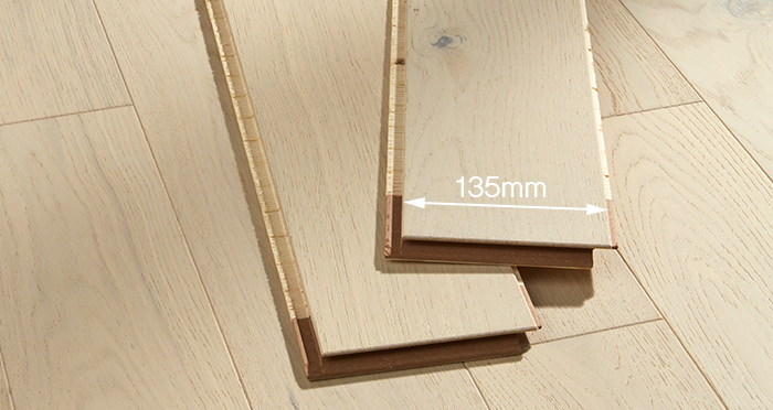 Kensington Cappuccino Oak Brushed & Lacquered Engineered Wood Flooring - Descriptive 2