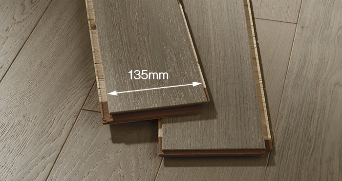 Kensington Grey Mist Oak Brushed & Lacquered Engineered Wood Flooring - Descriptive 2