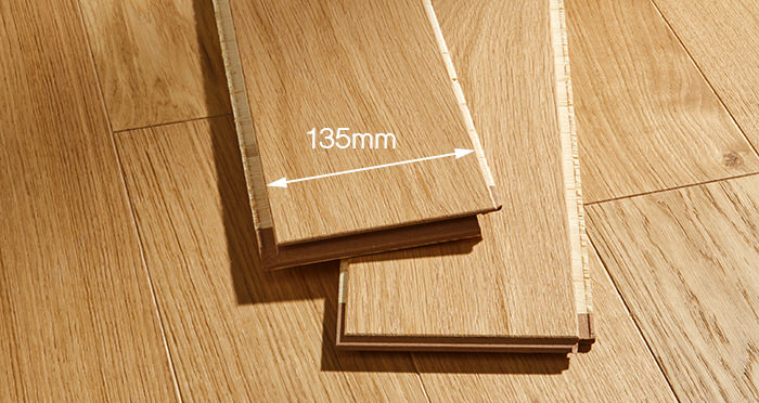Kensington Oak Natural Brushed & Lacquered Engineered Wood Flooring - Descriptive 2