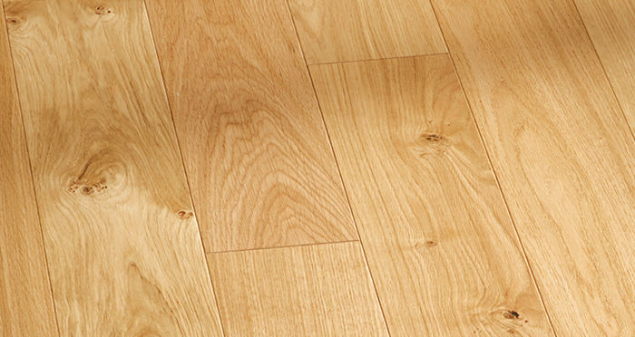 Kensington Oak Natural Brushed & Lacquered Engineered Wood Flooring - Descriptive 3