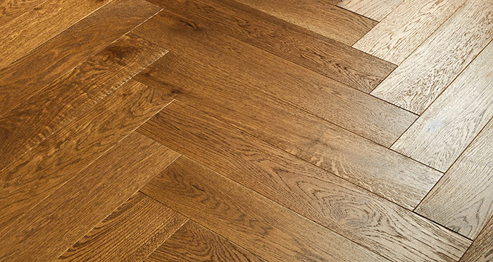 Marylebone Rich Toffee Oak Brushed & Lacquered Engineered Wood Flooring - Descriptive 3