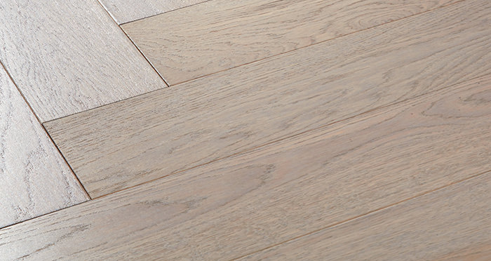 Marylebone Apollo Grey Oak Brushed & Lacquered Engineered Wood Flooring - Descriptive 1