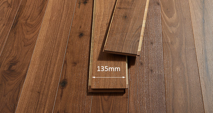Salcombe Walnut Brushed & Lacquered Engineered Wood Flooring - Descriptive 2