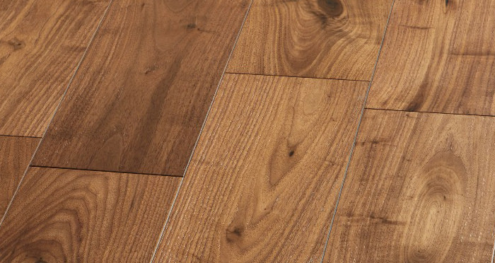 Mayfair Walnut Brushed & Lacquered Engineered Wood Flooring - Descriptive 3