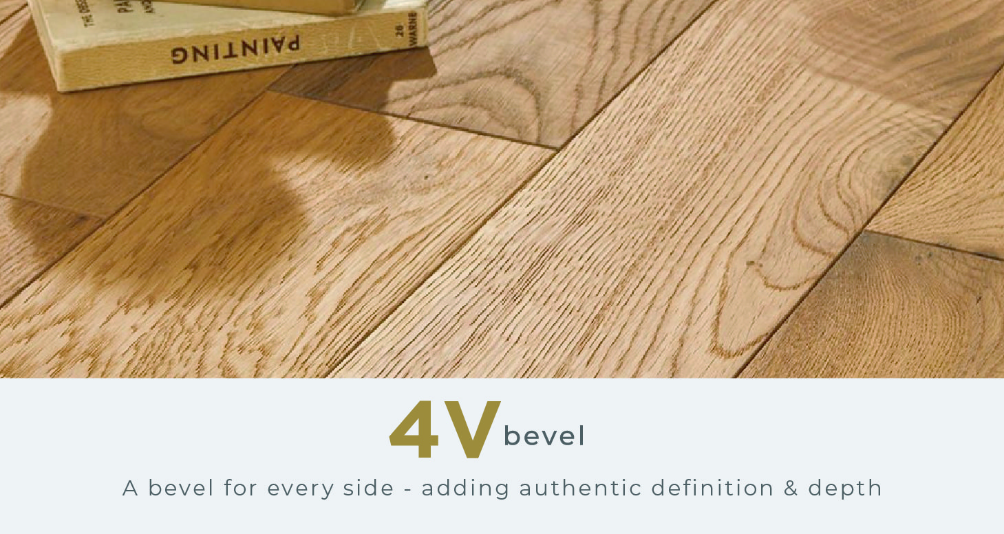 Vintage Narrow - Champagne Oak Laminate Flooring - Descriptive 2