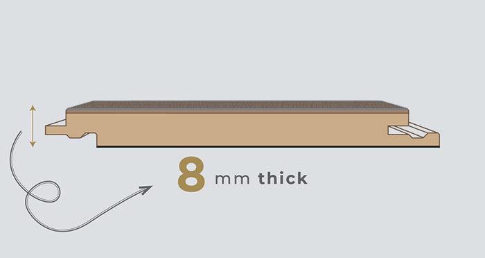Valencia Tile - Copper Laminate Flooring - Descriptive 1