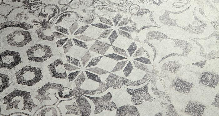 Valencia Tile - Retro Black Laminate Flooring - Descriptive 2