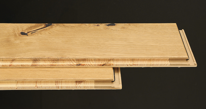 Knightsbridge Rustic Oak Lacquered Engineered Wood Flooring - Descriptive 1