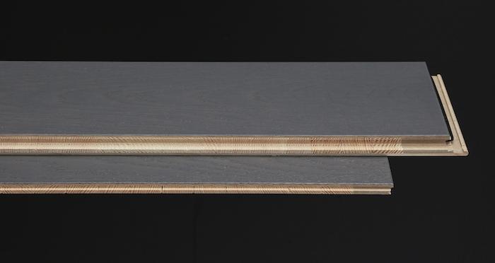 Knightsbridge Graphite Oak Brushed & Lacquered Engineered Wood Flooring - Descriptive 1