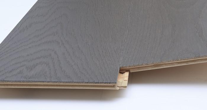 Knightsbridge Graphite Oak Brushed & Lacquered Engineered Wood Flooring - Descriptive 2