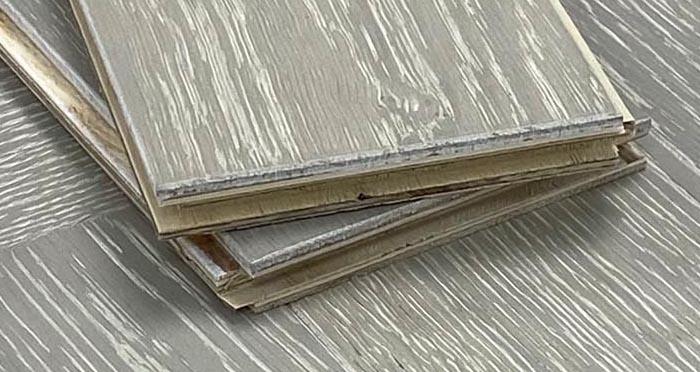 Trade Select Natural Brushed & Whitewashed Herringbone Engineered Wood Flooring  - Descriptive 4