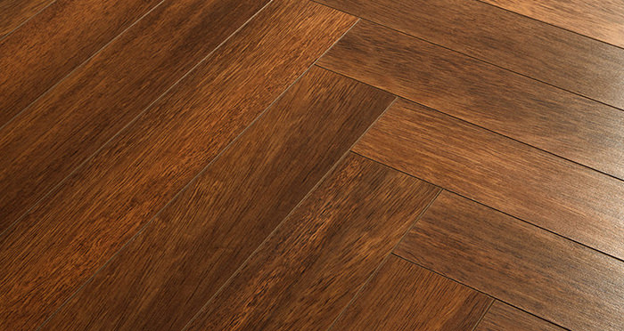 Vintage Chateau Herringbone - Merbau Laminate Flooring - Descriptive 2
