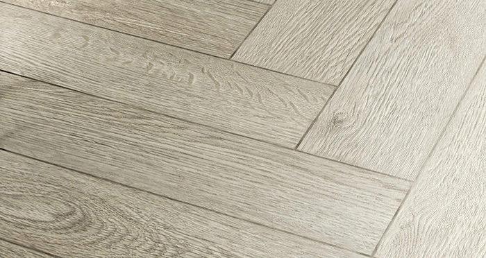 Vintage Chateau Herringbone - Spirit Grey Laminate Flooring - Descriptive 2
