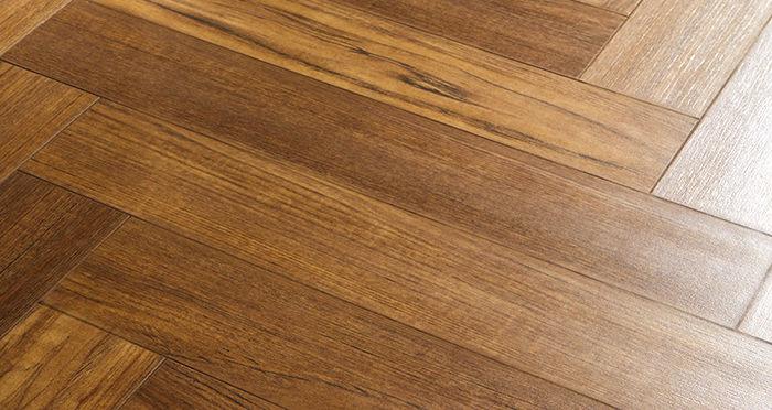Vintage Chateau Herringbone - Luxury Teak Laminate Flooring - Descriptive 2