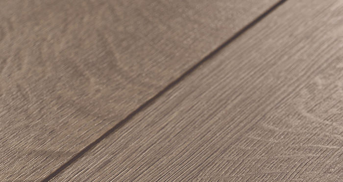 Barnwood Multi Width - Autumn Brown Oak Laminate Flooring - Descriptive 3