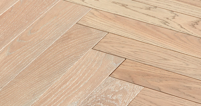 Park Avenue Herringbone Silk Grey Oak Solid Wood Flooring - Descriptive 5