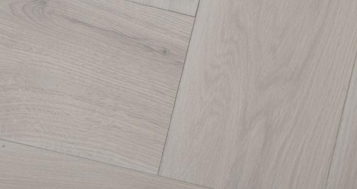 Prestige Herringbone Silk Grey Oak Oiled Engineered Wood Flooring - Descriptive 2
