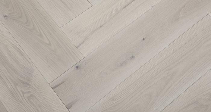 Prestige Herringbone Silk Grey Oak Oiled Engineered Wood Flooring - Descriptive 4