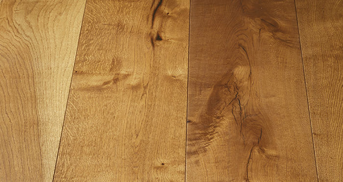 Mansion Golden Smoked Oak Brushed & Lacquered Engineered Wood Flooring - Descriptive 6
