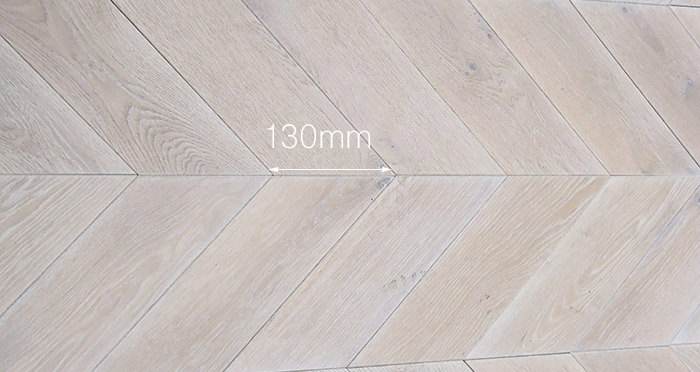 Whitewashed Oak Chevron Oak Solid Wood Flooring - Descriptive 2