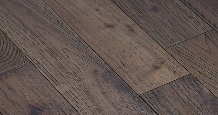 Aged Teak Lacquered Solid Wood Flooring - Descriptive 2