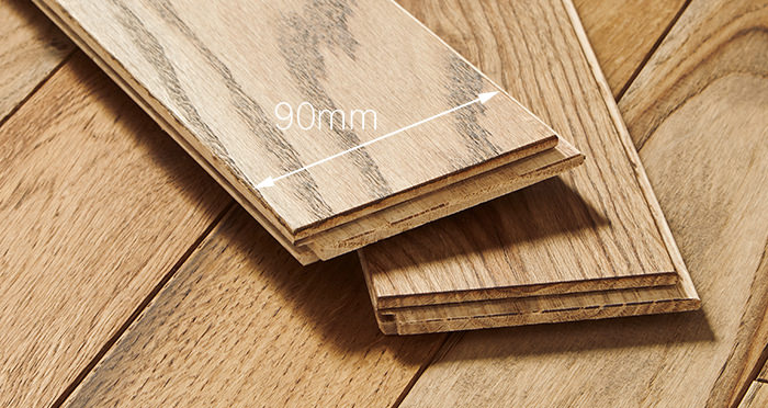Castle Brown Oak 90mm Oiled Solid Wood Flooring - Descriptive 4