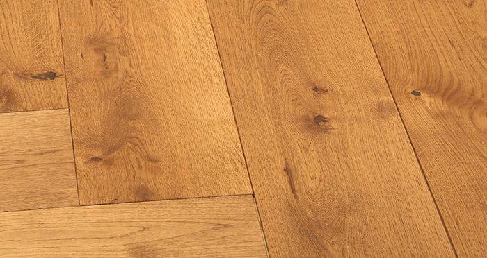 Prestige Herringbone Golden Oak Oiled Engineered Wood Flooring - Descriptive 5