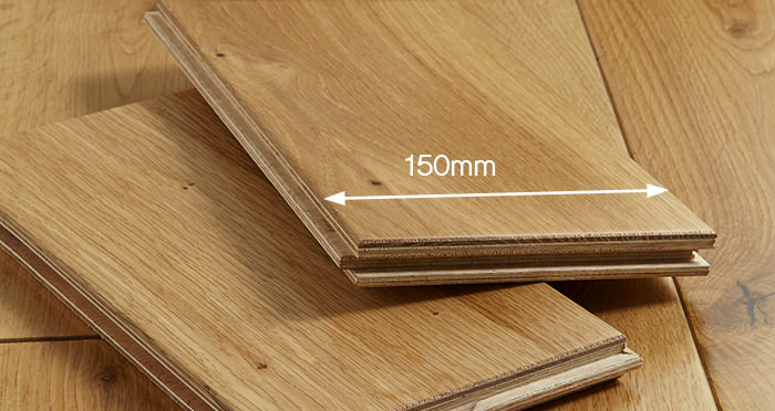 Manor Natural Oak Lacquered Engineered Wood Flooring - Descriptive 3