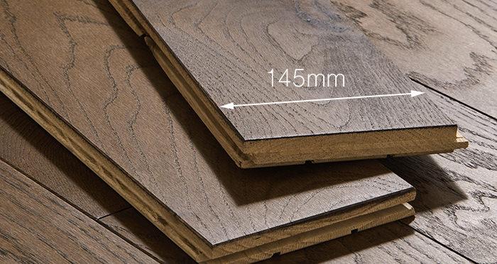 Deluxe Espresso Oak Solid Wood Flooring - Descriptive 3