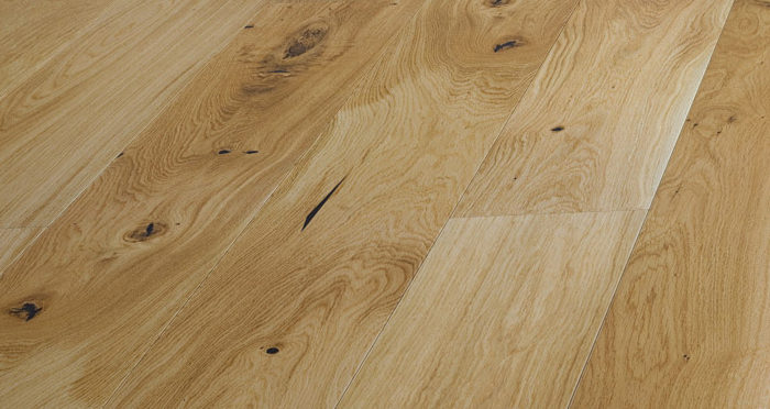 Trade Select Natural 14mm x 155mm Lacquered Engineered Wood Flooring - Descriptive 1
