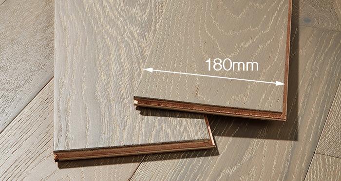 Manhattan Pearl Grey Oak Brushed & Lacquered Engineered Wood Flooring - Descriptive 4