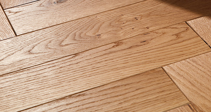 Park Avenue Herringbone Natural Oak Solid Wood Flooring - Descriptive 1