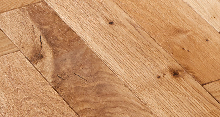 Park Avenue Herringbone Natural Oak Solid Wood Flooring - Descriptive 2